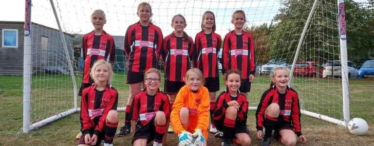Catshill Girls U12 team photo