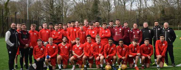 Crawley Town FC Reserves team photo