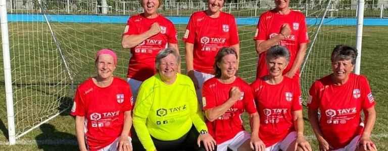 England Over 60s Women Walking Football team photo