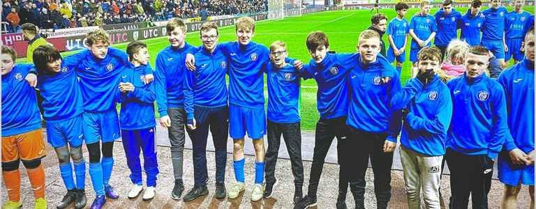 FC Bury Devils U16 team photo