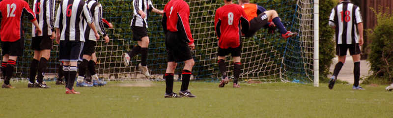 Farnham & District Sunday Football League Division Seven action