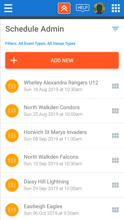 Screenshot of TeamStats : Arrange Matches