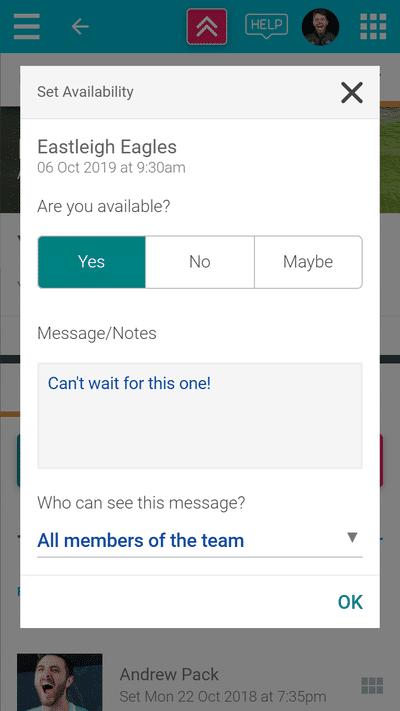 Screenshot of TeamStats : Choose Availability?a=1