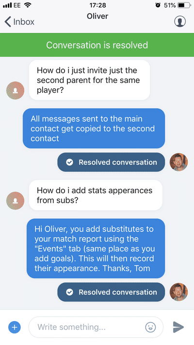 Screenshot of TeamStats : Crisp Chat Support Mobile?a=1