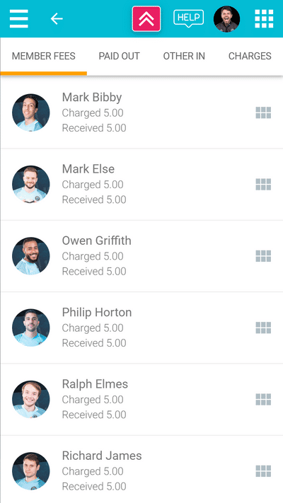 Screenshot of TeamStats : Finances Events Members Mobile
