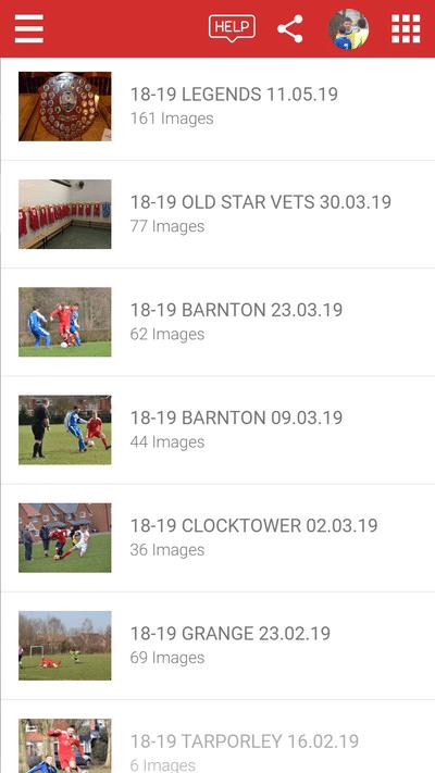 Screenshot of TeamStats : Mobile Gallery List