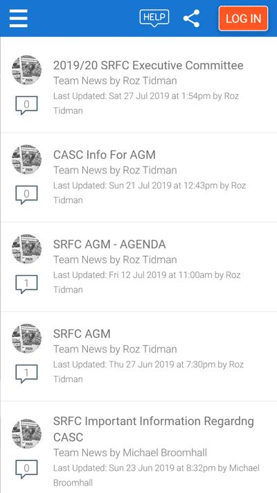 Screenshot of TeamStats : News Topics Mobile