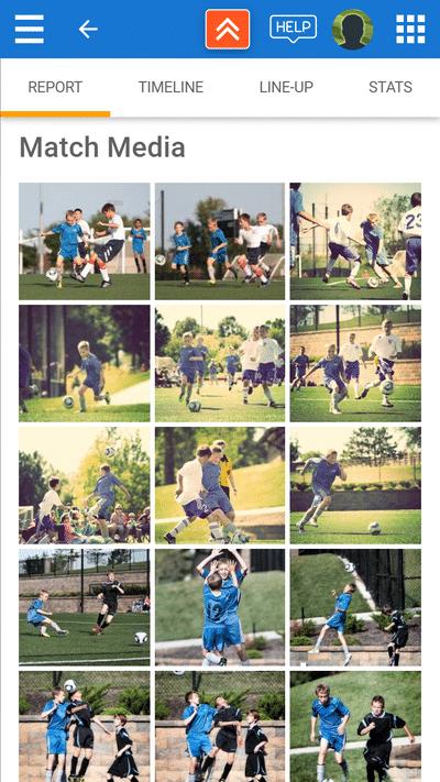 Screenshot of TeamStats : Report Photos Mobile