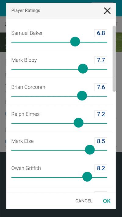 Screenshot of TeamStats : Report Player Ratings Mobile