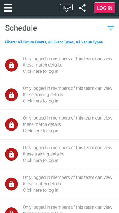 Screenshot of TeamStats : Schedule Private Mobile
