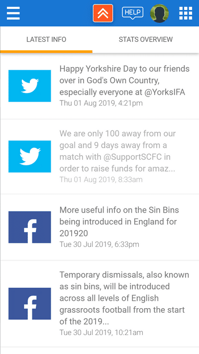 Screenshot of TeamStats : Social Feeds Mobile