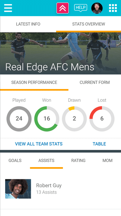 Screenshot of TeamStats : Stats Team Home Mobile