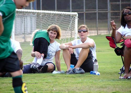 Soccer Moms pitchside