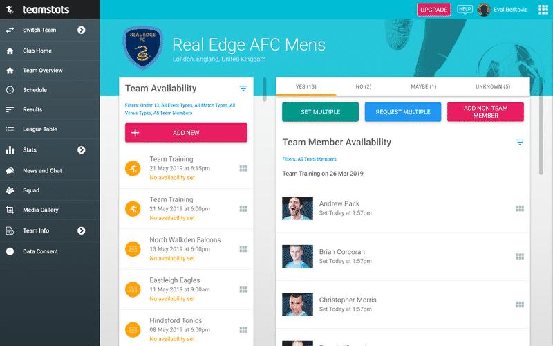Screenshot of TeamStats : Desktop Availability Admin?v=2