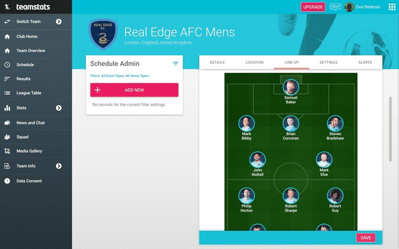 Screenshot of TeamStats : Line Up Planner Desktop?v=10