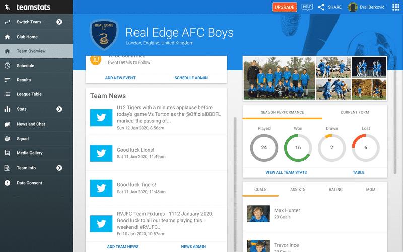 Screenshot of TeamStats : Social Feeds Desktop?v=2