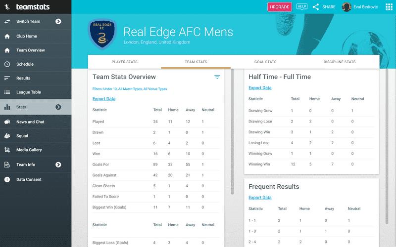 Screenshot of TeamStats : Team Stats Desktop?v=2