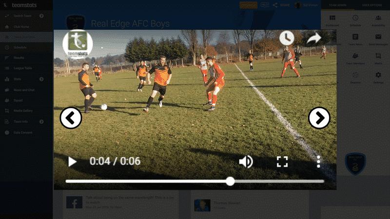 Screenshot of TeamStats : Video Play Desktop?a=1