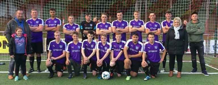 Maesyrhandir Football Club team photo