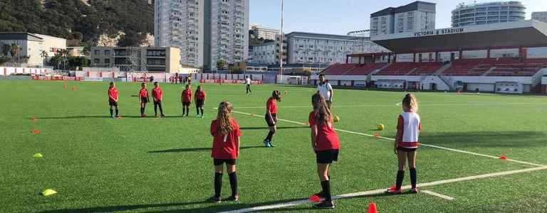 Mons Calpe U8 Girls team photo