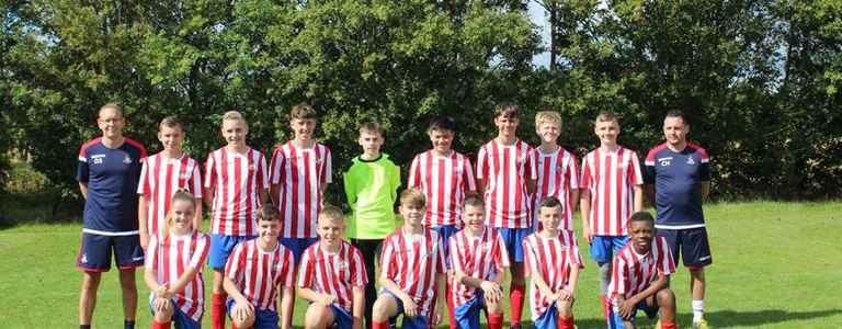 SBJFC GALAXY U14 team photo