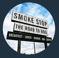 SMOKE STOP team badge