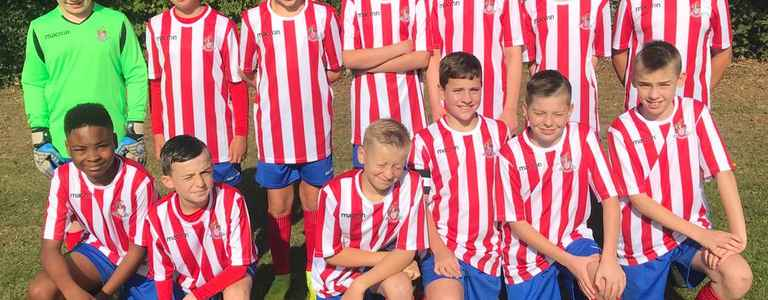 Stevenage Borough Juniors U13 Galaxy team photo
