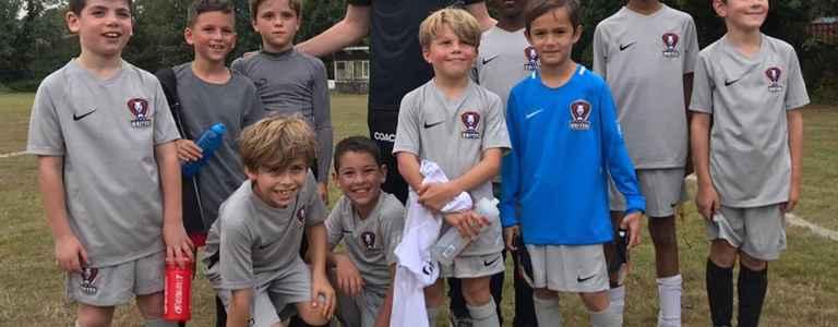 TFA Bushey U9 Blues team photo