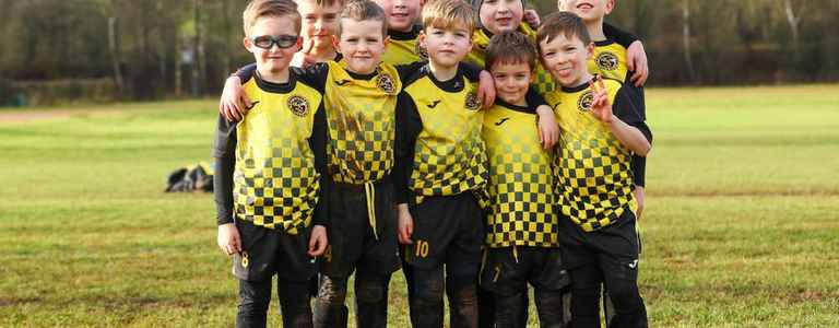 Werrington Wasps Yellows U7s team photo