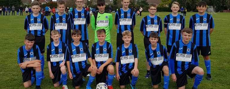 Whittlesey Junior FC Blue U14 team photo